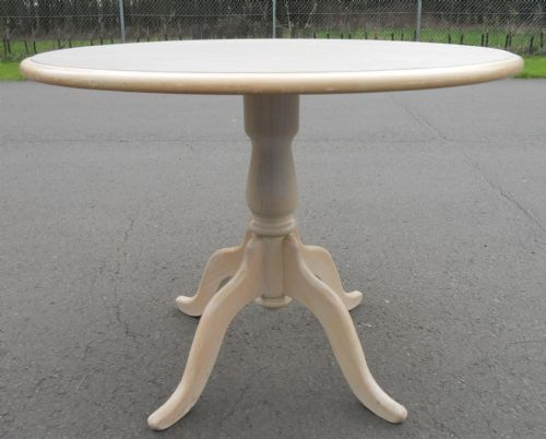 Pale Beech Pedestal Centre Table